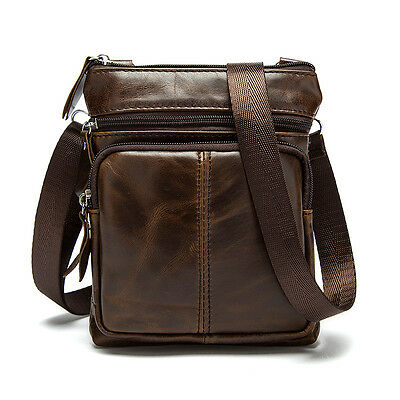 Casual Men Genuine Leather Vintage Shoulder Bag Messenger Crossbody Bags Handbag