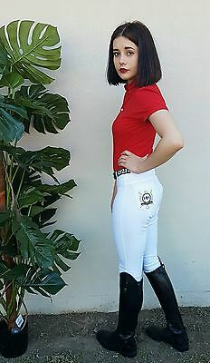Breeches White Ladies with silicone knee grips size 6 - 16
