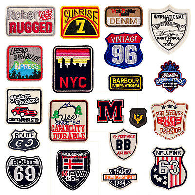 20XVingateCloth Sequins Sew On Patch Badge Embroidered Cloth Fabric Applique DIY