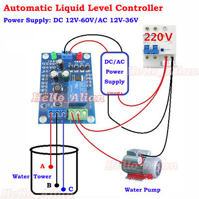 AC/DC 12V 30A Liquid Level Controller Module Water Level Detection Sensor Switch