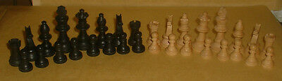 Wooden Chess Pieces Full Set