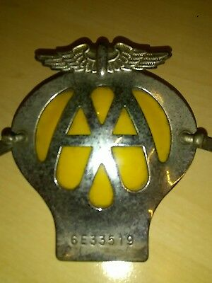 AA BADGE, Vintage, square, very good used condition.