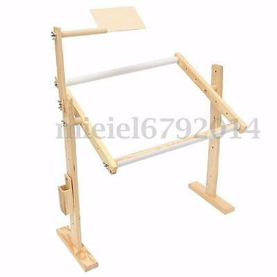 Wooden Cross Stitch Embroidery Frames Adjustment Tapestry Floor Stand Holder