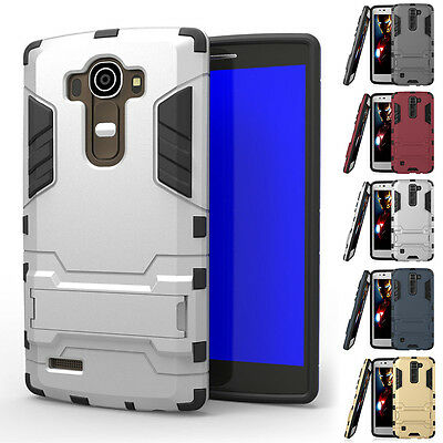 Rubber Impact Hybrid Kickstand Hard Case Phone Cover For LG K7 / Tribute 5