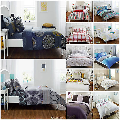 Duvet Cover With Fitted Sheet & Pillowcase Bedding Sets Single Double King Size