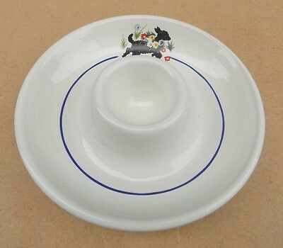 Vintage WILLSGROVE WARE POTTERY Child's Egg Cup Plate