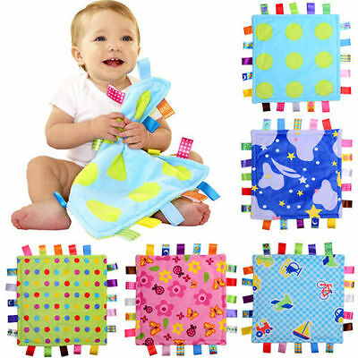 *UK SELLER* Baby Taggy Security Comforter Blanket Taggy Boys Girls