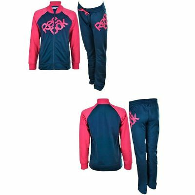 Girls Reebok Tricot Tracksuit Track Top Trousers Pants Bottoms Age 5-16 Years