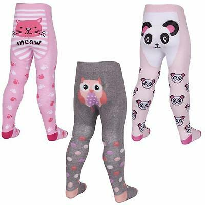 Baby Fun Design Tights with Gripper Soles - Panda/Owl or Cat 12-18m or 18-24m