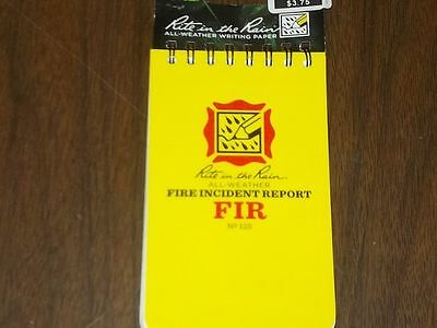 """NEW, Rite in the Rain 125 All-Weather Fire Incident Report Notebook, 3"""" x 5"""", RR"""