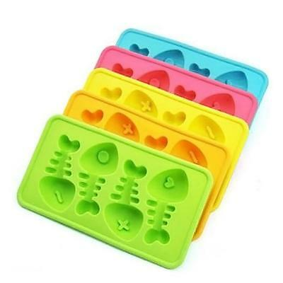 Silicone Fish Bone Ice Cube Tray Gel Mould Bar Jelly Chocolate Mold cheveux AC