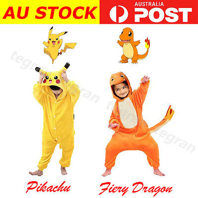 Halloween Kids Pajamas Cosplay Costume Pokemon Pikachu Onesies1 Dragon Pyjamas
