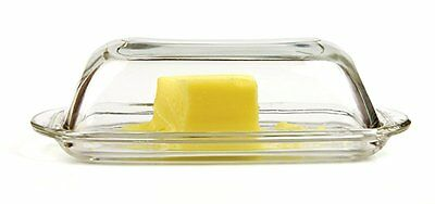 Glass Butter Dish with Cover