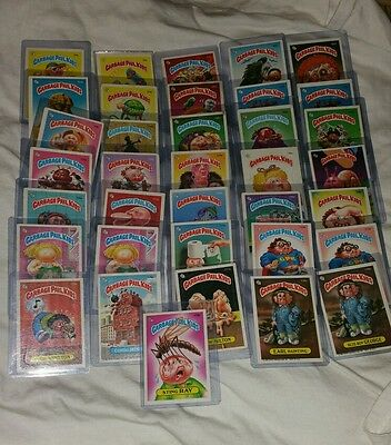 (36) Vintage Collectable Garbage Pail Kids Trading Cards Stickers No Duplicates