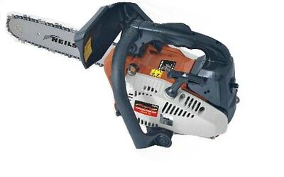 """Top Handle 12"""" Petrol Topping Pruning Chainsaw 26cc With Harness"""