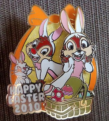 Disney Pin DLR Happy  Easter 2010 Mini Pin Collection Chip and Dale Only Le