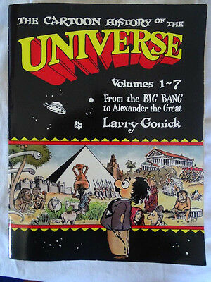 the cartoon history of the universe vol 1-7  Larry Gonick, Doubleday E.O 1990