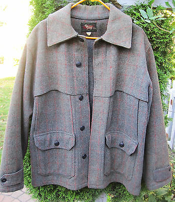 Vintage 1930's Woolrich Hunting Jacket - Size 42 - John Rich & Bros - Mackinaw