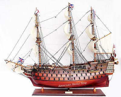 "HMS Victory Admiral Nelson's  Tall Ship 27"" -Built Wooden Model New"