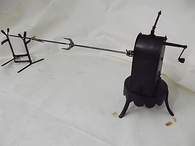 antique french rotisserie motor clockwork roadspit fireplace barbecue pin jack