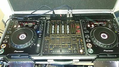 2X Cdj 1000 Mk3, Djm 600, Swan Flight Case (Custom Wiring, Connectors, Additiona