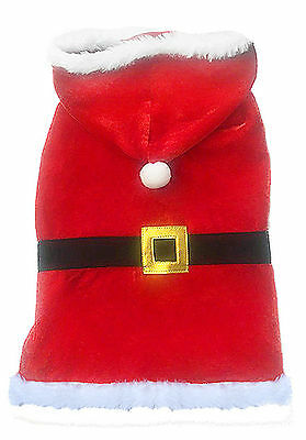 Dog Life Santa Coat Christmas Xmas  Coat for Dogs & Puppies with Belt & Buckle