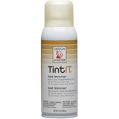 Tint IT Transparent Dye Spray Paint 10oz-Gold Shimmer