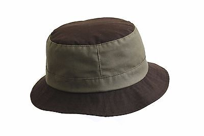 Brand New Men's Brown/olive Green Wax Outdoor Waterproof Bucket Bush Hat Multi 1