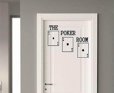 Poker Room Wall Decal Home Decor Cards Vinyl Decal Art Family Friends Play
