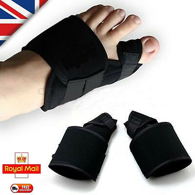 Pair Big Toe Bunion Splint Straightener Corrector Hallux Valgus Relief Foot Pain
