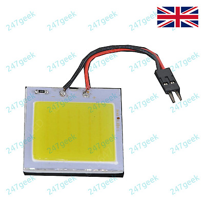 """12v 48 COB LED Module White with wires & 2 pin 0.1"""" plug - UK Stock"""