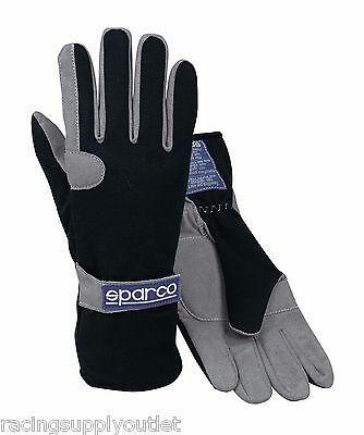 Sparco Pro Kart Go kart Racing Gloves  Black  Size X-Small