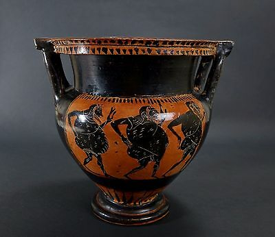 *Aphrodite Gallery* An Exceptional Greek Black Figure Krater, 5th Century B.C.
