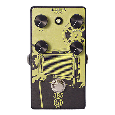 Walrus Audio 385 Overdrive Dynamic Amp-Like Guitar Effects Stompbox Pedal