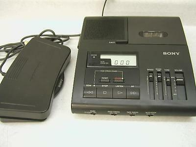 SONY BM 840 Microcassette transcriber ac, pedal, new headset WARRANTY