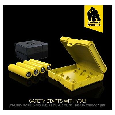 18650 Battery Case Authentic Chubby Gorilla Quad Case Yellow And Black 2 Pack