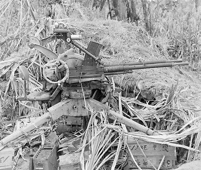 WW2 Photo WWII Captured Japanese Machine Gun  New Guinea  World War Two /1447