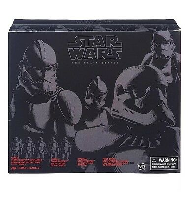 """Star Wars The Black Series 6"""" Inch Stormtrooper and Clone Trooper 4-Pack"""