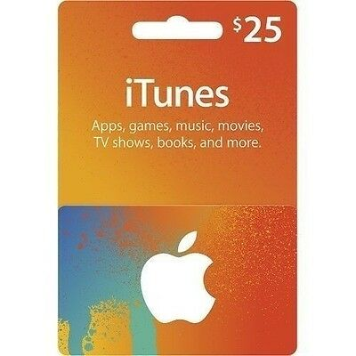 $25 (CAD) Canadian Apple itunes Gift Card - Delivery within 24 Hrs