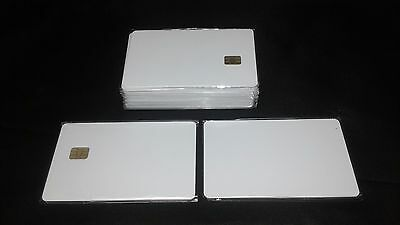 SLE 4428 Contact IC  Big Chip  White PVC Smart Card Blank 30 Pack Usa Shipping