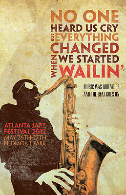 0521 Vintage Music Poster Art - Atlanta Jazz Festival