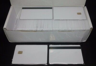 SLE 4442 Small Chip  White PVC Smart Card  HiCo 8.4 mm 200 Pack Usa Shipping