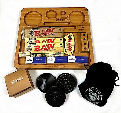 RAW Brand Backflip, Striped Magnetic & Straight Wooden Bamboo Rolling Tray Deals