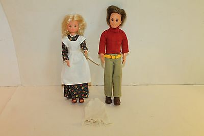 Mattel Sunshine Family 1973 Steve And Stephie-Original Clothes & Shoes + Dress
