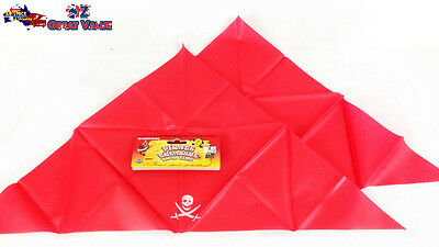2x Unisex Red Pirate Triangle Bandana Red Head Scarf Costume Party Dress 106325