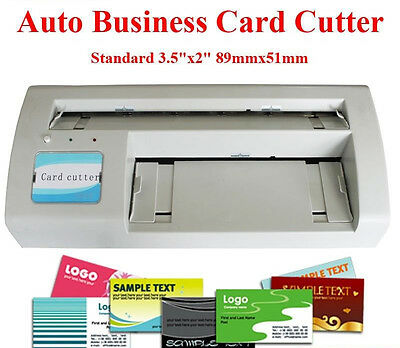 "Standard Business Card Cutter 3.5""x2"" Letter Size A4 Paper&Letter Size Automatic"