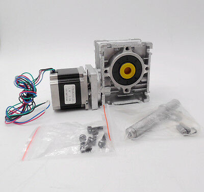 Nema23 Worm Gearbox Stepper Motor 3A L56mm 1.1N.m Ratio 10:1 20:1 30:1 Optional