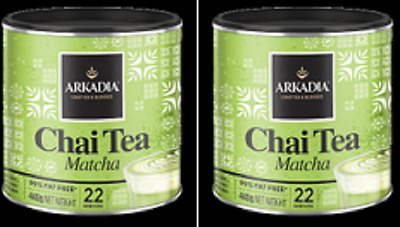 Arkadia Matcha Green Tea Latte 2 x  440g