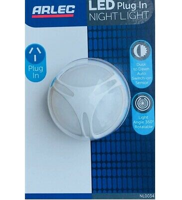Arlec Emergency Led Night Light 240v Classic Shape Auto Sensor