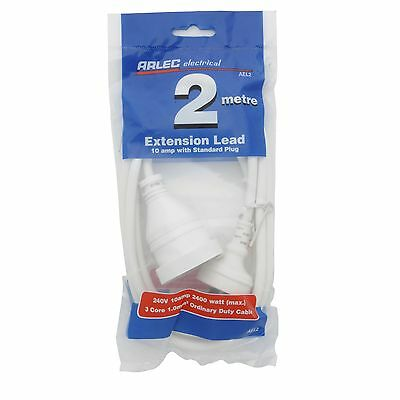 Arlec HOUSEHOLD EXTENSION LEAD 240V 10Amp 3 Core Cable *Aust Brand - 2m Or 10m